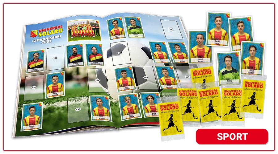 album di figurine personalizzato per lo sport