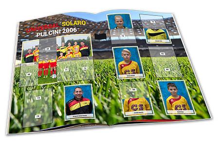 Album di figurine per la squadra calcio