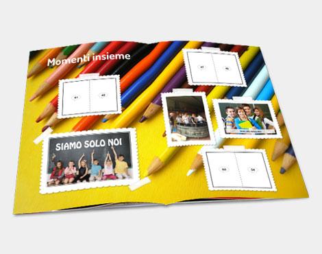 album di figurine per la scuola