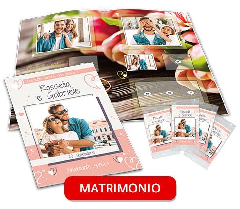 album di figurine personalizzato matrimonio