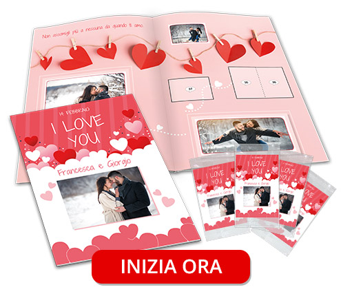 album di figurine amore fidanzato